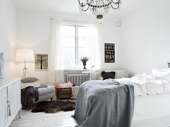 Romantische slaapkamer met veel licht  Wooninspiratie