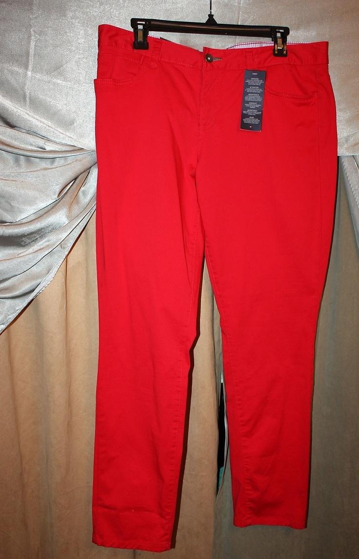 womens tommy hilfiger freedom skinny jeans size 12 solid. Black Bedroom Furniture Sets. Home Design Ideas