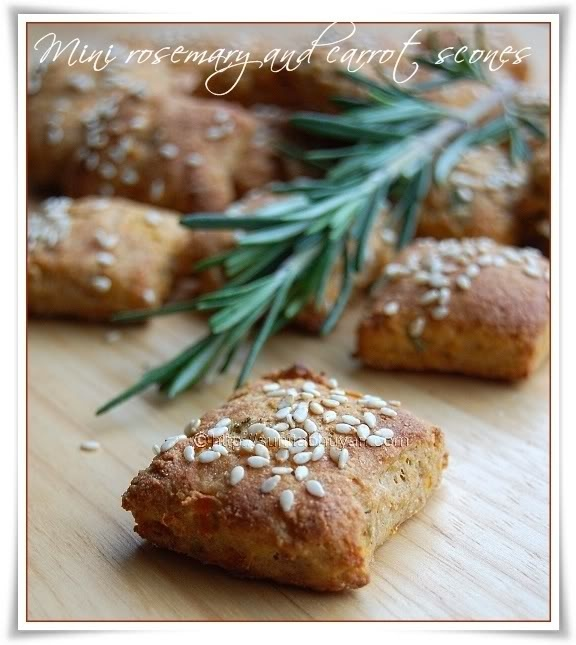 Mini rosemary and carrot scones | Bread and more Bread! | Pinterest