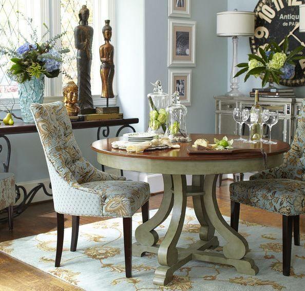 Light blue dining room comedor celeste ideas for my for Light blue dining room ideas