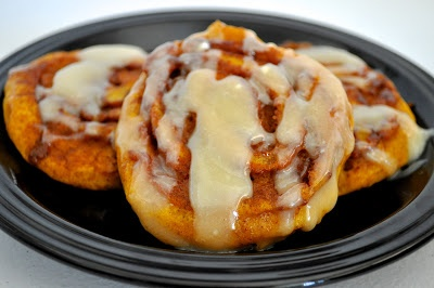 Pumpkin Cinnamon Roll Pancakes | FIRST MEALS | Pinterest