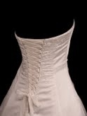 Fantastic tutorial on making a professional corset back for formal dresses.