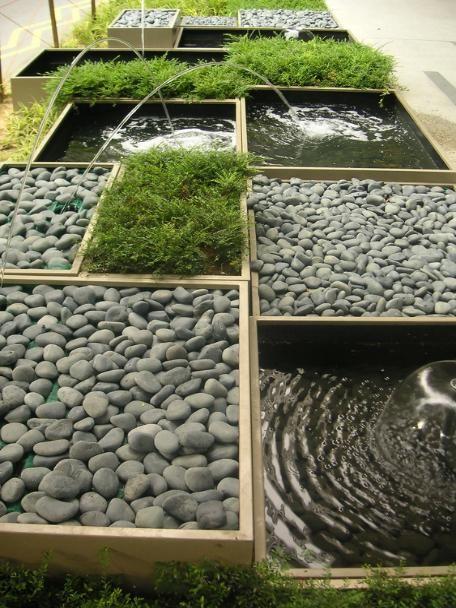Zen garden pond