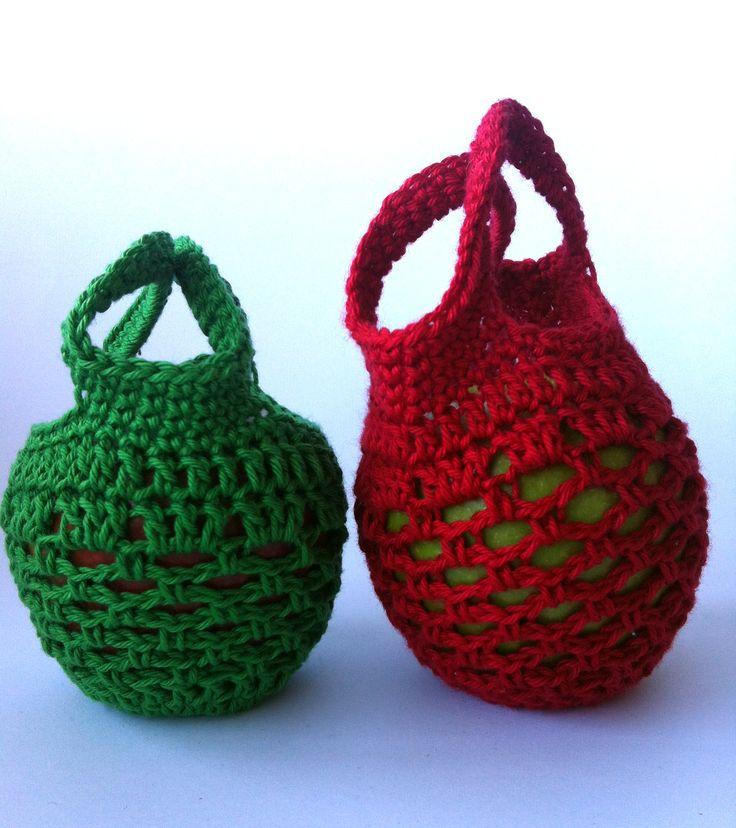 Crochet Grocery Bag Pattern : Mini Crochet Gift Bag Free Pattern Knots Pinterest