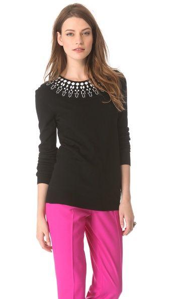 Giulietta Jewel Collar Sweater