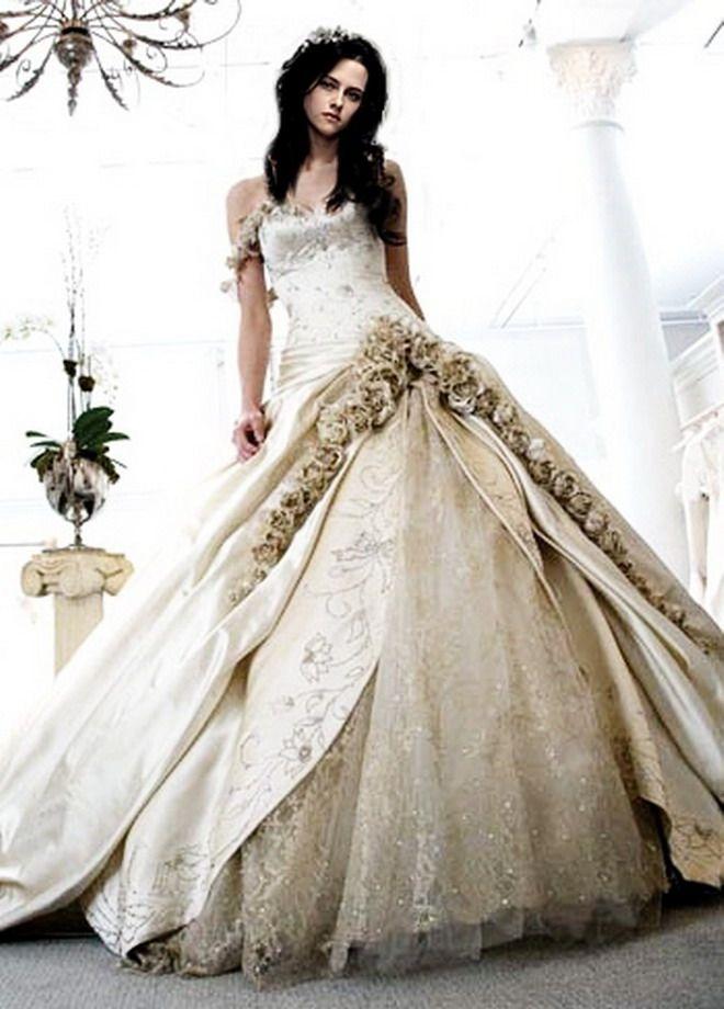 Bella swan wedding dress twilight for Bella twilight wedding dress