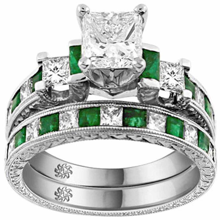 Unique Engagement Wedding Ring Sets