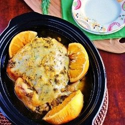 Slow Cooker Orange Rosemary Chicken | Crock Pot Cooking | Pinterest