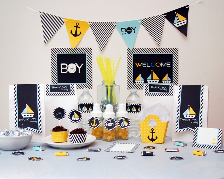 Nautical Baby Shower 736 x 588