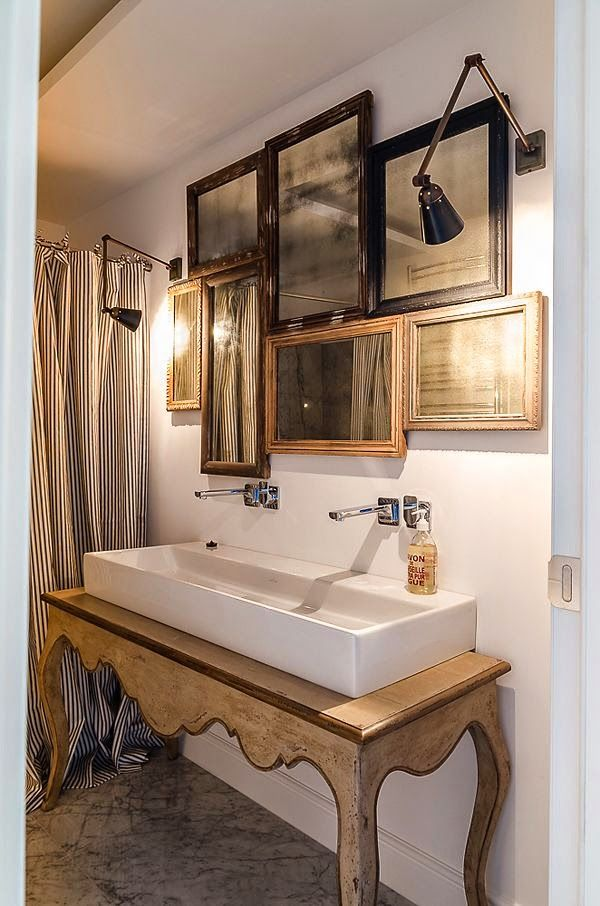 Mirror Collage Over Sink A Perfect Gray Decor Pinterest