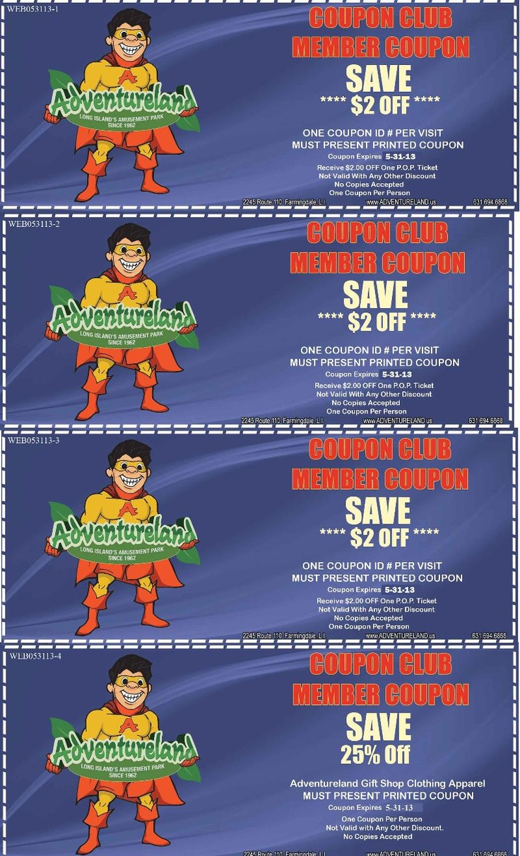 Casey's adventureland discount coupons