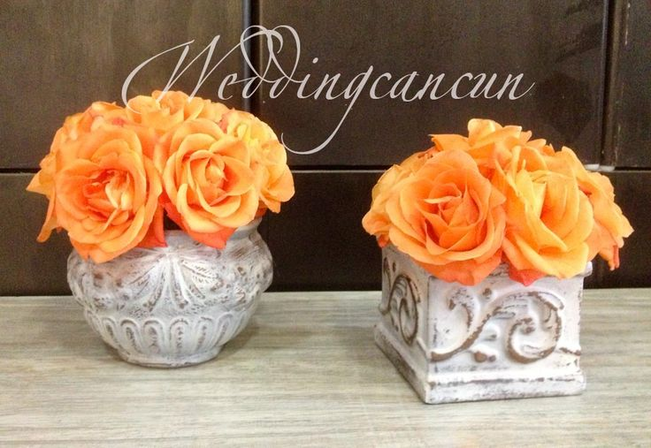 #orange #vintage #centerpiece #decor #weddingcancun by #latinasia