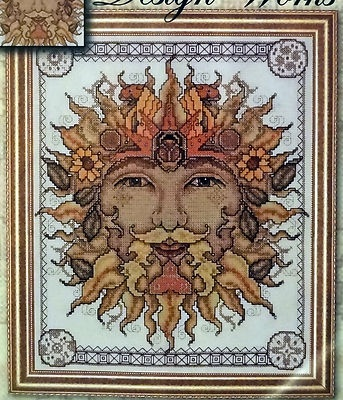 """Father Sun"" artist Joan Elliott, Counted Cross Stitch Kit, Design Works"
