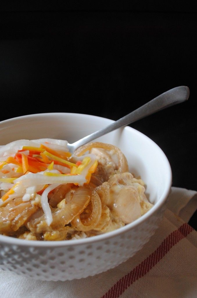 chicken-and-egg rice bowl (oyakodon) | Japanese Food 和食 ...