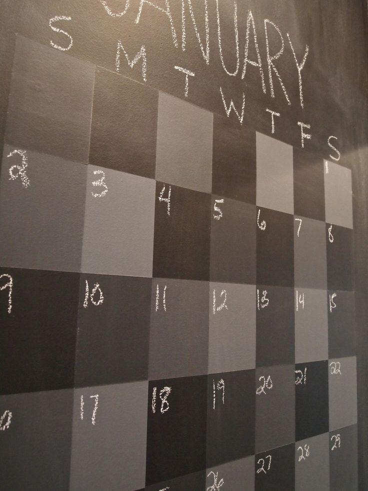 Diy Calendar Chalkboard : Diy chalkboard calendar must have for my classroom