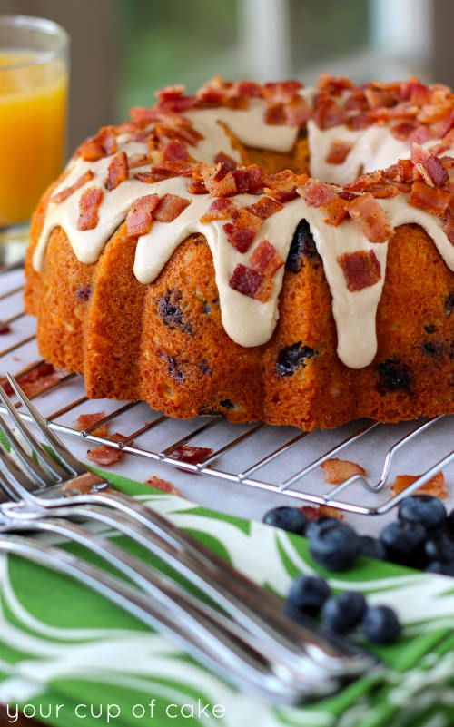 Breakfast Bundt Cake: blueberry cinnamon cake with a maple glaze and ...