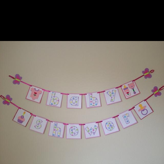 homemade baby shower banner baby shower ideas pinterest