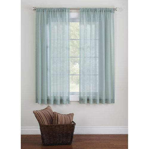 Canopy Elise Tonal Stripe Sheer Curtain Panel 8.96$ short look for ...