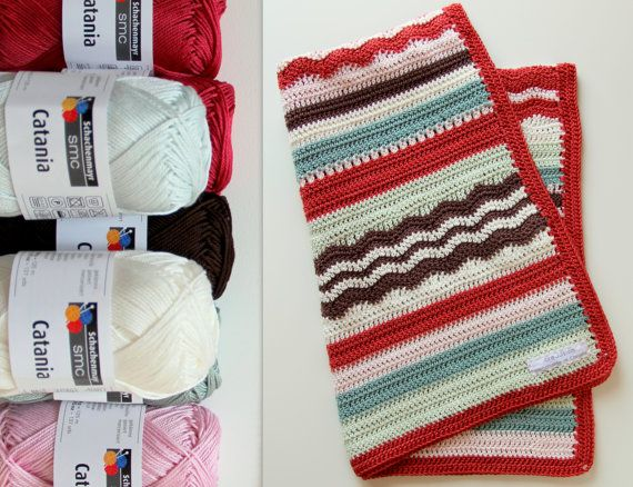 Crochet Patterns Kits : crochet kit baby blanket pattern and yarn von creJJtion auf Etsy, $33 ...