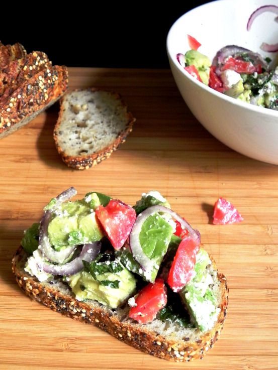 Sauteed Tomato, Avocado, And Parmesan Open Faced Sandwich Recipes ...