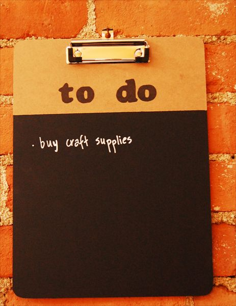 Chalkboard Clipboard - Another cute idea.... mail center? use small ...