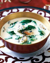 Mussel-and-Spinach Bisque - Or fatty-fat soup part 1 billion.