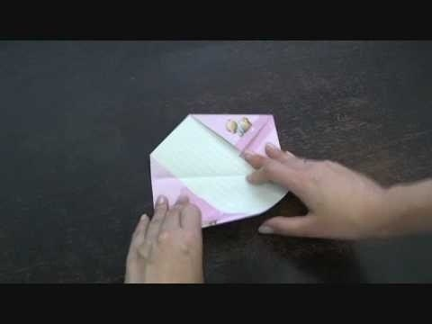 How to Fold your letter into a cool shape