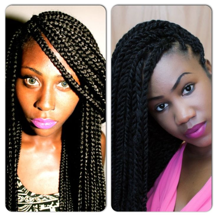 Box braids vs. Senegalese twists#curlyhairrocks #naturalhair # ...