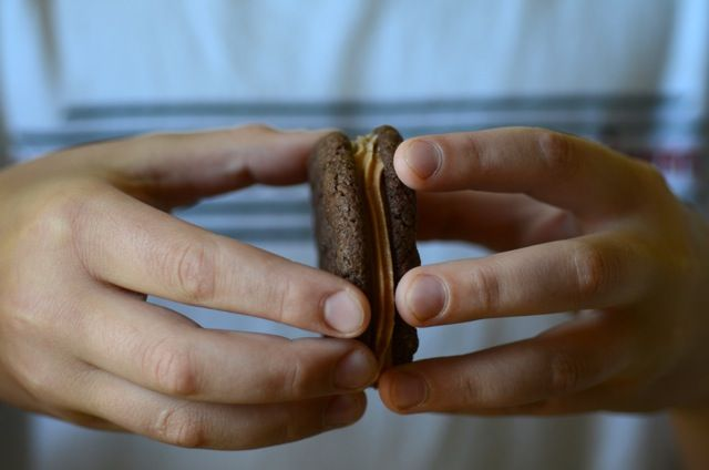 Chocolate Malt Sandwiches | Cookies Cookies Cookies | Pinterest
