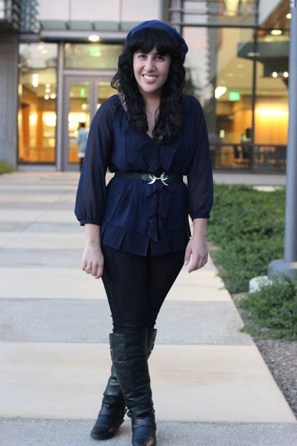 What To Wear With Navy Blue Sheer Blouse 64