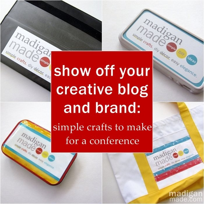 how to put your blog logo on stuff to take to a conference