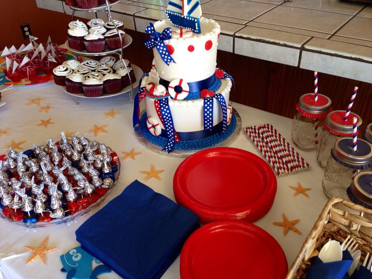 nautical theme baby shower food table baby shower ideas pinterest