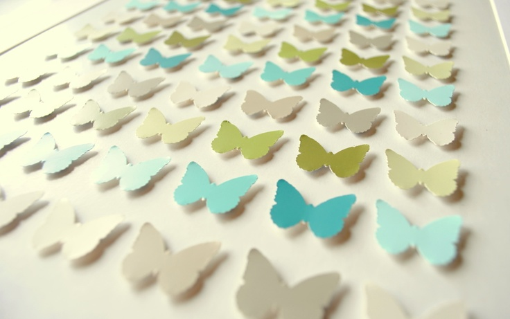 butterfly art with paint chips