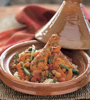Chicken Tagine with Chickpeas and Mint - Bon Appétit