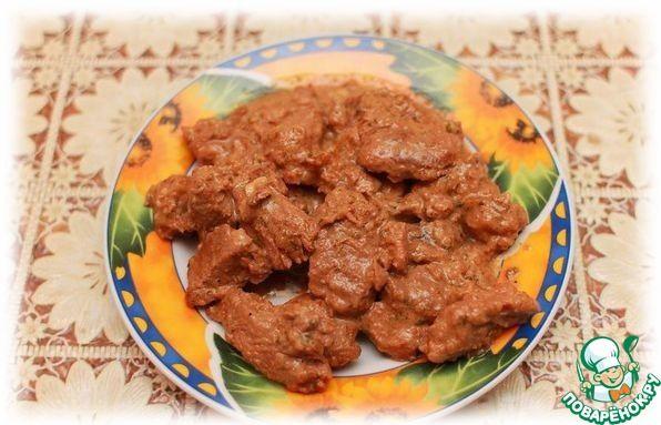Мясные блюда со сметаной рецепт