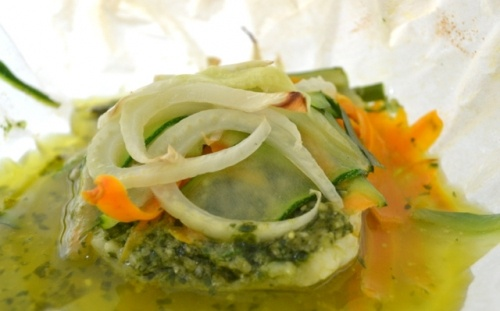 Fish in Parchment with garden veggies | Yum | Pinterest