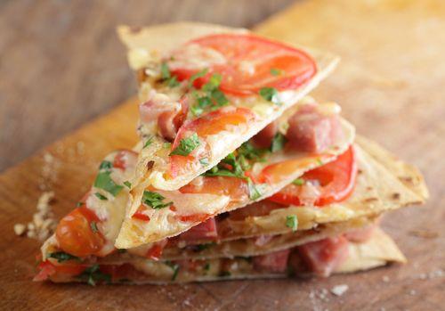Tortilla Pizzas | Recipes | Pinterest
