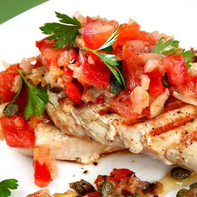Grilled Bruschetta Chicken - Edna's Kitchen   Dahl's Foods