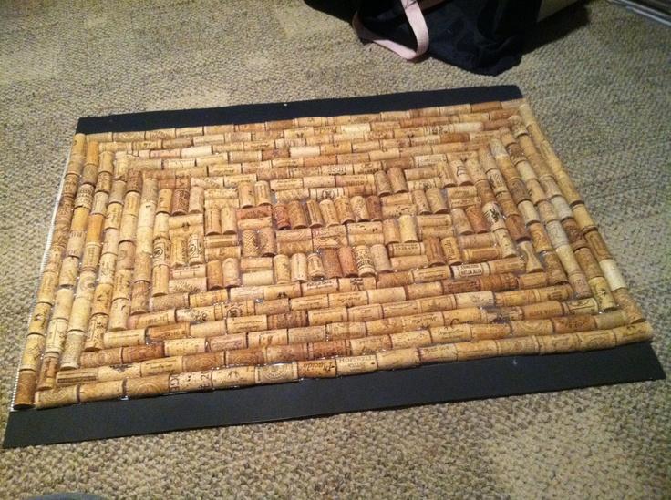 Cork floor mat great ideas pinterest for Wine cork welcome mat