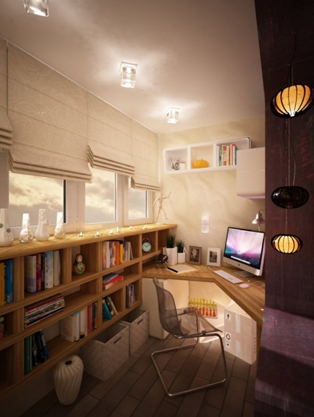 Cozy Home Office Organized Clutter Inspiring