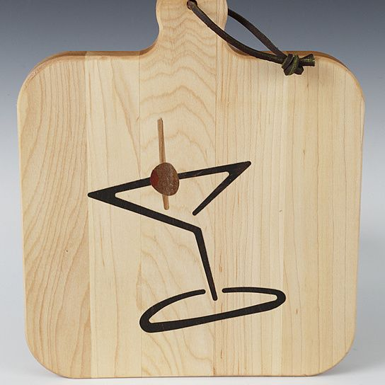 Martini Time Cheese Board by Kentucky Cutting Boards