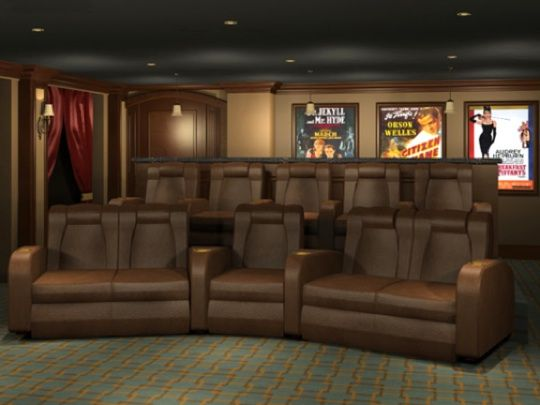 Theater room seating idea house ideas pinterest for Home theater seating design ideas
