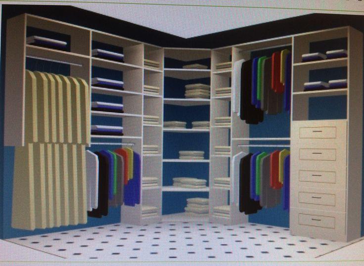 Corner closet solution basement pinterest - Closets designs small spaces design ...