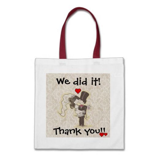 ... . Check out: We Did it! Thank You Wedding Bag #wedding #gift #bags