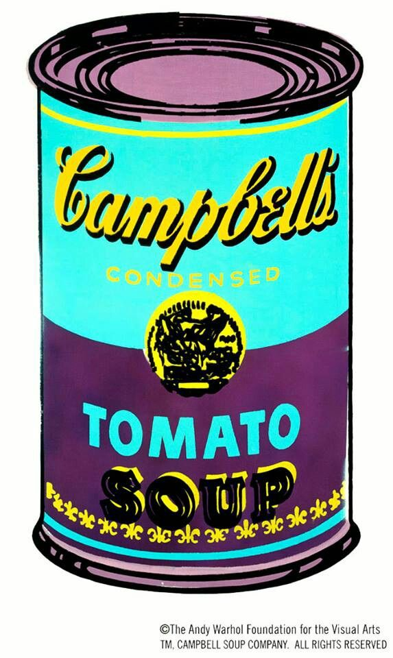 campbells tomato soup andy warhol pop art pinterest. Black Bedroom Furniture Sets. Home Design Ideas
