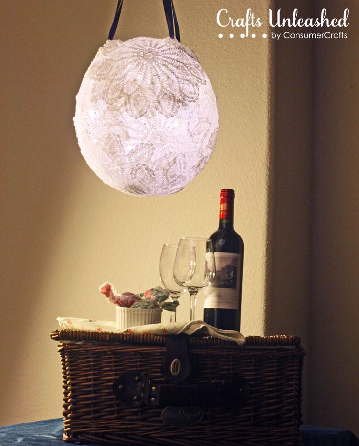 Make a pretty DIY lace doily ball lamp to add a special touch to any room with this simple step-by-step tutorial.