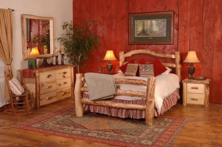 Create A Cabinesque Bedroom With Adult Cabin Log Beds