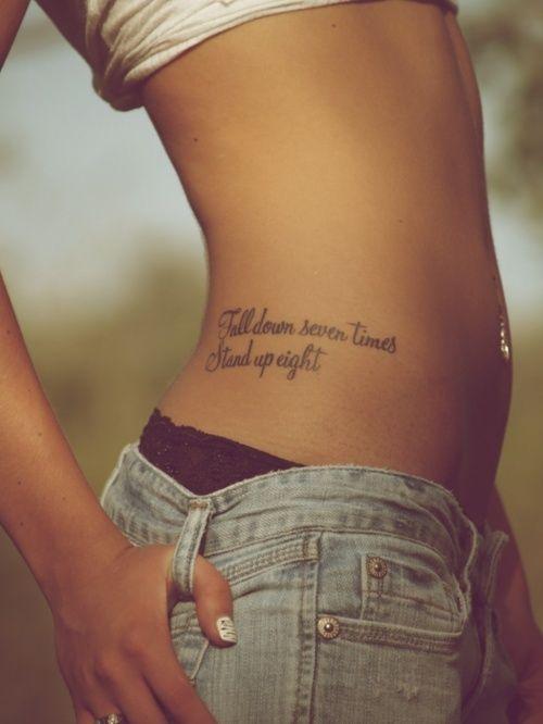 Tattoo Quote Waist Tattoo Side Tattoo