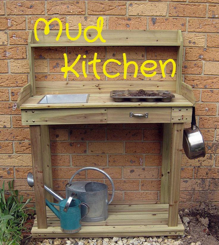Turn a potting shed into a mud kitchen