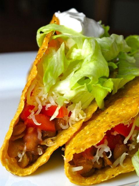 Spiced Lentil Tacos | Feastie | Deliciously Awesome | Pinterest
